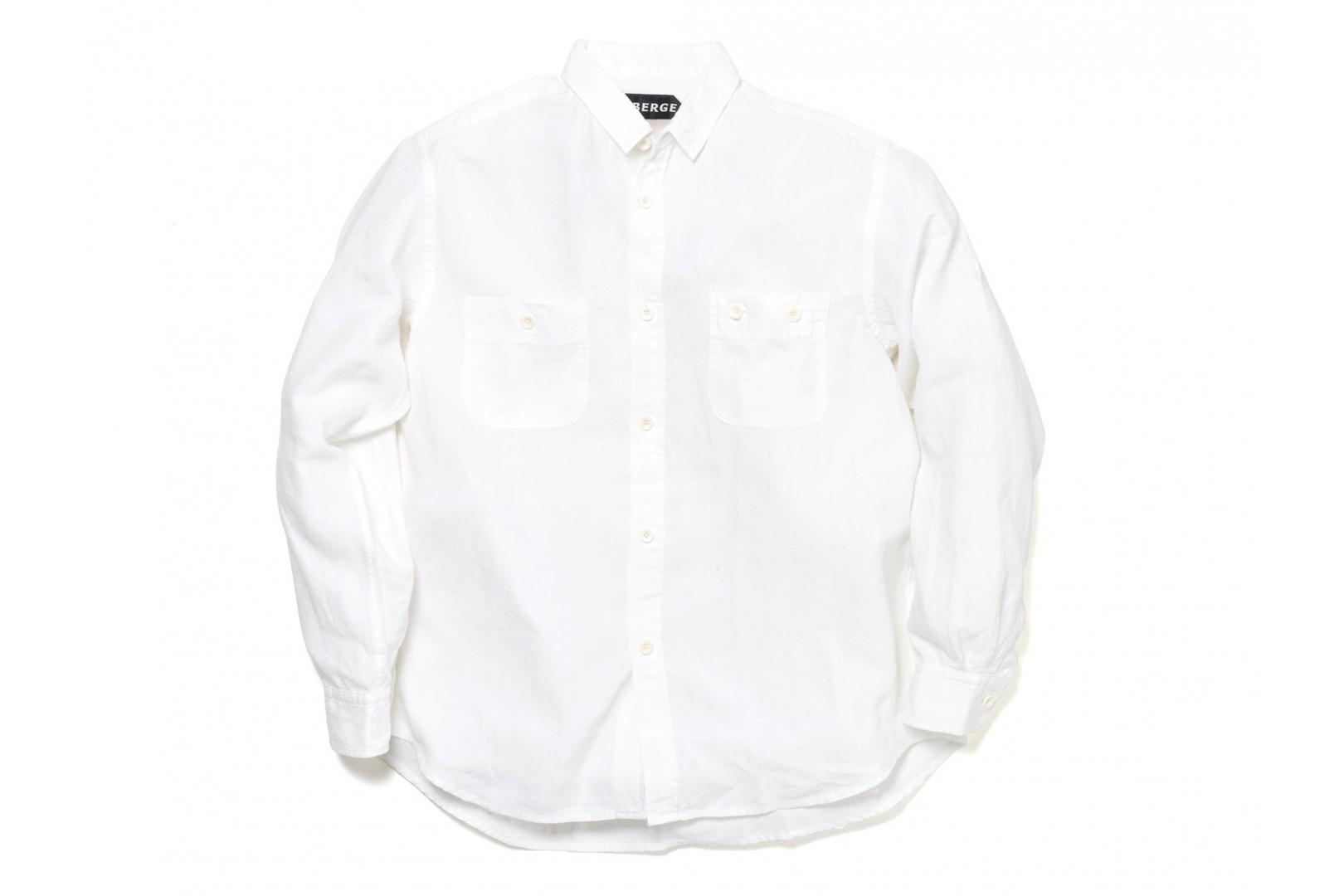 Amvai別注 AUBERGE Serge Shirts(White)